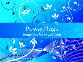 PowerPlugs: PowerPoint template with abstract background of a blue and white floral design
