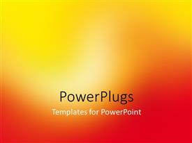 PowerPlugs: PowerPoint template with abstract background in bright yellow and red tones with motion blur