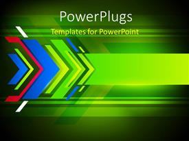 PowerPlugs: PowerPoint template with abstract background with colorful arrows pointing towards the right direction