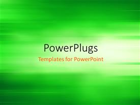 PowerPlugs: PowerPoint template with abstract background depicting motion blur in green background