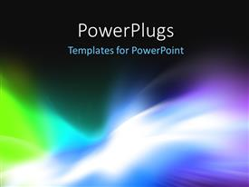 PowerPlugs: PowerPoint template with abstract background for design visualizing motion and energy