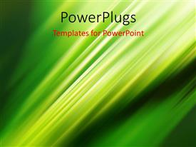 PowerPlugs: PowerPoint template with abstract background with diagonal light stripes on green surface