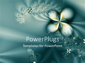 PowerPlugs: PowerPoint template with abstract background with diamond stones on flowers
