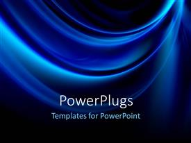 PowerPlugs: PowerPoint template with abstract background with glowing blue waves