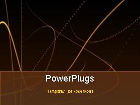 PowerPlugs: PowerPoint template with an abstract background with lots of bright moving lines