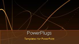 PowerPoint template displaying an abstract background with lots of bright moving lines - widescreen format