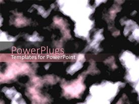 PowerPoint template displaying abstract background of mosaic fuse, white, light pink and black
