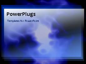 PowerPlugs: PowerPoint template with an abstract background of moving figures in blue color