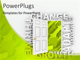 PowerPlugs: PowerPoint template with abstract background with open door to growth, progress, change