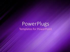 PowerPlugs: PowerPoint template with abstract background showing purple motion blur with dark edges
