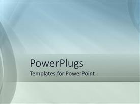 PowerPoint template displaying abstract background with soft blue and gray colors