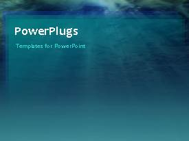 PowerPlugs: PowerPoint template with an abstract background with he view of sunlight reaching deep into the ocean