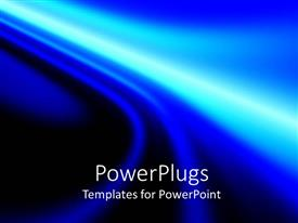PowerPlugs: PowerPoint template with abstract background with waving shapes combining blue and black