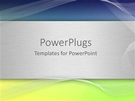 PowerPlugs: PowerPoint template with abstract background of yellow, grey and blue with nice patterns