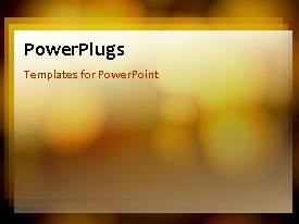 PowerPlugs: PowerPoint template with an abstract background with yellowish background and circular graphics