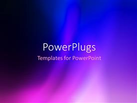 PowerPlugs: PowerPoint template with abstract beautiful blue and purple colorful blur background
