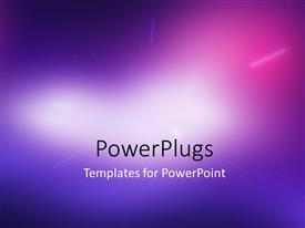 PowerPlugs: PowerPoint template with abstract beautiful blurred light compostion background