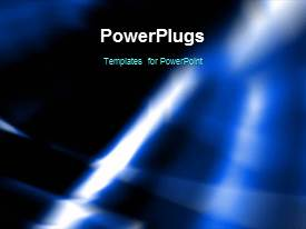 PowerPlugs: PowerPoint template with an abstract black background with shinning black and blue lights