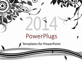PowerPlugs: PowerPoint template with an abstract black floral design on a white background