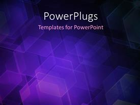 PowerPlugs: PowerPoint template with abstract blue background with hexagons bokeh defocused lights
