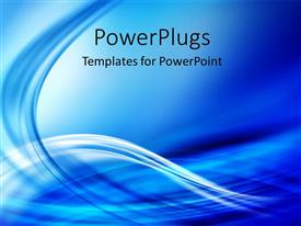 PowerPlugs: PowerPoint template with abstract blue color flowing waves