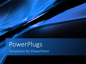 PowerPlugs: PowerPoint template with abstract blue color prisms lines and shapes background