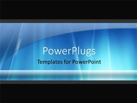 PowerPoint template displaying abstract blue color shades