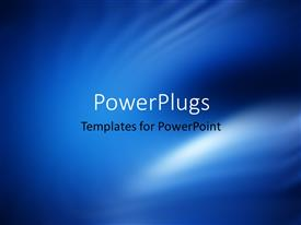 PowerPoint template displaying abstract blue colored blur background for web design