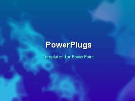 PowerPlugs: PowerPoint template with abstract blue colored cloud movement effect