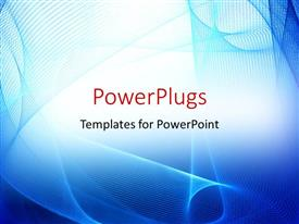 PowerPlugs: PowerPoint template with abstract blue curves on white background