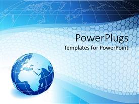 PowerPlugs: PowerPoint template with abstract of a blue earth globe on a blue background