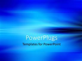 PowerPlugs: PowerPoint template with abstract blue horizon background