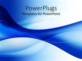 PowerPlugs: PowerPoint template with abstract blue and white shape suggestive of draped fabric