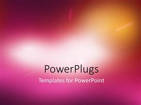 PowerPoint template displaying abstract blurred glowing light emerging from center