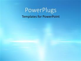PowerPlugs: PowerPoint template with abstract blurred heart beat on a clinic monitor on a blue background