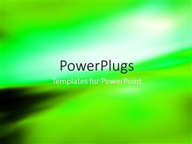 PowerPlugs: PowerPoint template with abstract blurry background with light glow on green gradient