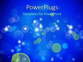 PowerPlugs: PowerPoint template with abstract bokeh effect with blue color