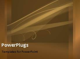 PowerPlugs: PowerPoint template with abstract bright waves with brown color