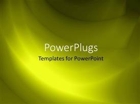 PowerPoint template displaying abstract bright yellow color waves