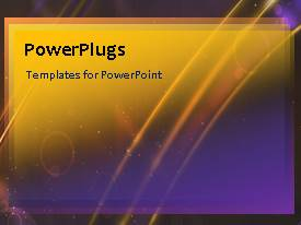 PowerPlugs: PowerPoint template with an abstract brown background with some multicolored moving lines