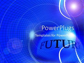 PowerPlugs: PowerPoint template with abstract of a checked background with black Future text