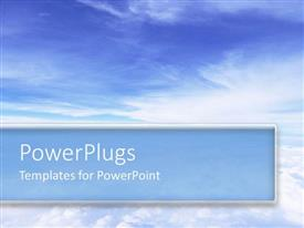 PowerPlugs: PowerPoint template with an abstract of a cleat blue sky with a blue strip