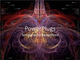 PowerPlugs: PowerPoint template with an abstract collection of patterns with blackish background