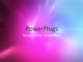 PowerPlugs: PowerPoint template with abstract colored background with blurred radial rays