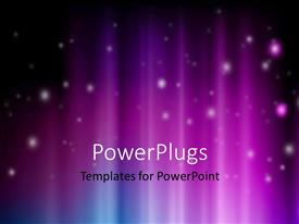 PowerPlugs: PowerPoint template with abstract colorful background with glowing particles falling from top