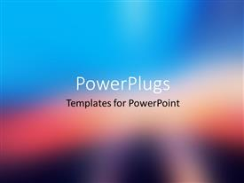 PowerPlugs: PowerPoint template with abstract colorful blurred background