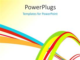 PowerPlugs: PowerPoint template with abstract colorful creative rainbow wave line