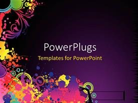 PowerPlugs: PowerPoint template with abstract colorful decorative shapes with purple color