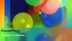 PowerPoint template displaying abstract colorful different colors floating around