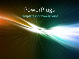 PowerPlugs: PowerPoint template with abstract colorful glowing horizon background